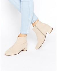 Vagabond Jamilla Beige Suede Ankle Boots