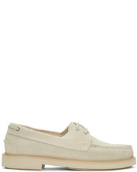 A.P.C. Beige Basile Boat Shoes