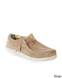 Hey Dude Wally Suede Slip On Boat Shoes