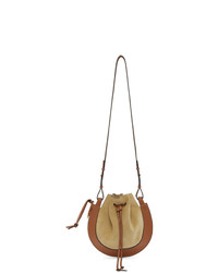 Loewe Beige And Tan Horseshoe Bag
