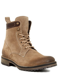 Beige Suede Casual Boots