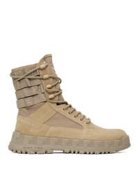 Versace Beige High Sneaker Boots