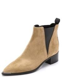 Beige Suede Chelsea Boots