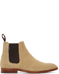 Ps By Paul Smith Beige Gerald Suede Chelsea Boots