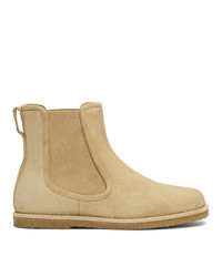 Loewe Beige Suede Chelsea Boots