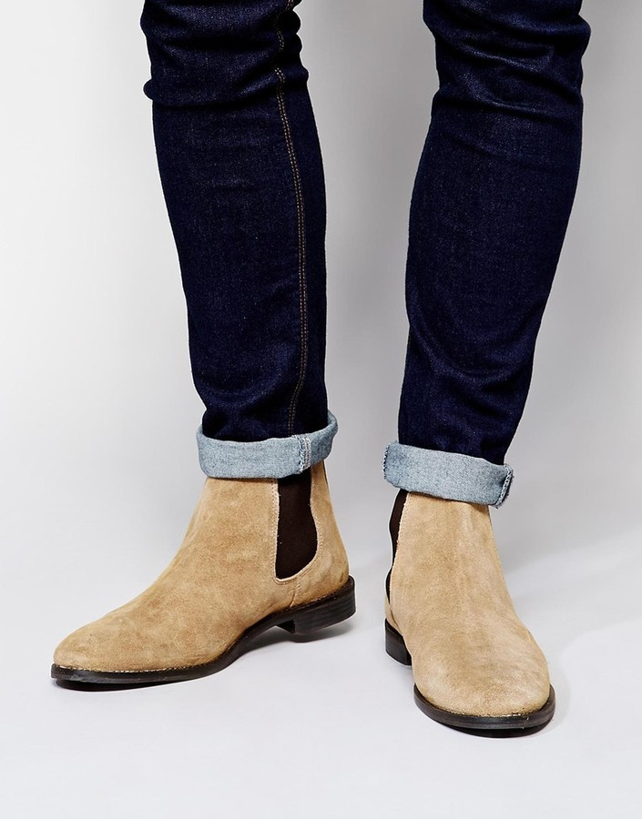 3f190a659d71 ... Asos Brand Chelsea Boots In Suede ...