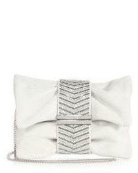Jimmy Choo Chandra Suede Crystal Heringbone Clutch