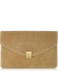 Zadig & Voltaire Lizor Suede Envelope Clutch