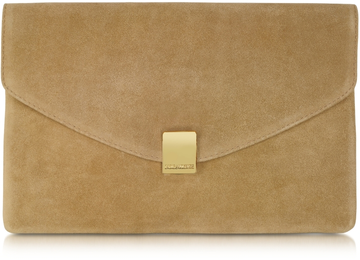 62161bf86f49 Zadig & Voltaire Lizor Suede Envelope Clutch, $315 | Forzieri ...