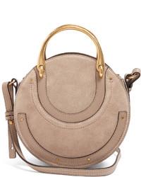 Chlo pixie small leather and suede cross body bag medium 6368519