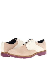 Beige Suede Derby Shoes