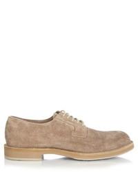 Brunello Cucinelli Lace Up Suede Derby Shoes