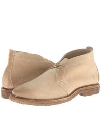 Frye Carter Chukka Lace Up Boots Sand Suede