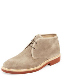 Ermenegildo Zegna Suede Chukka Boot Light Brown