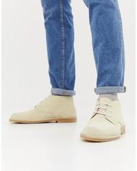 Selected Homme Beige Suede Desert Boots