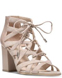 Franco Sarto Meena Block Heel Lace Up Sandals Shoes