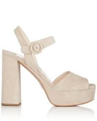 b72a9a40df1 Prada Suede Sandals Out of stock · Prada Ankle Strap Platform Sandals