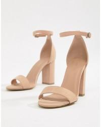 New Look Block Heel Minimal Sandal