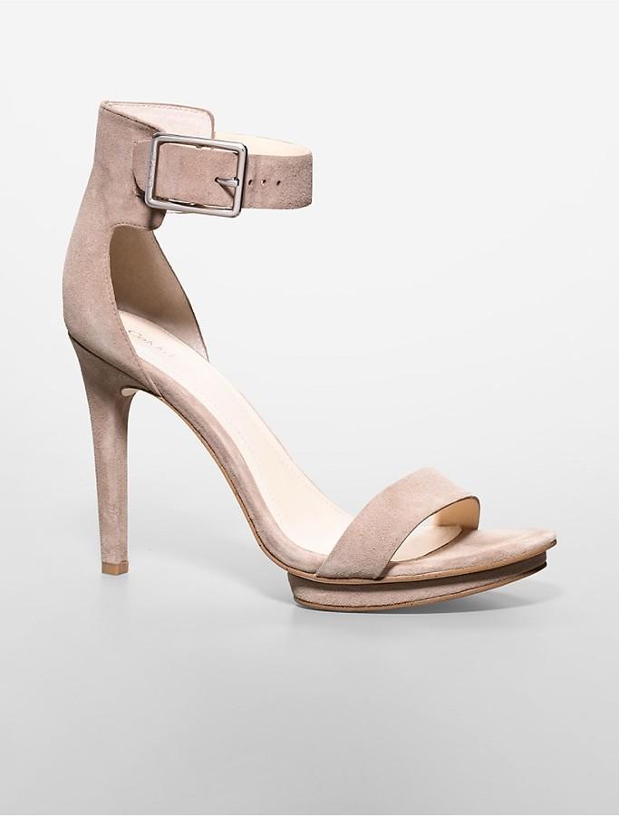 73a706aa1741 ... Heeled Sandals Calvin Klein Vivian Suede Platform Sandal ...