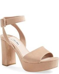 Miu Miu Sandali Ankle Strap Sandal