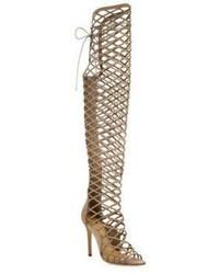 Schutz Karlyanna Tall Cutout Suede Gladiator Boots