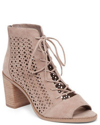Trevan perforated suede booties medium 842857