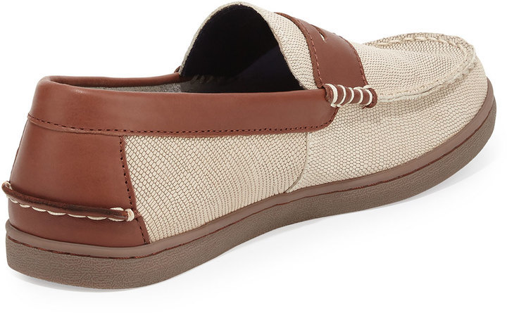 ee09745a5d9 Cole Haan Nantucket Lizard Embossed Penny Loafer Oyster Graybrown ...
