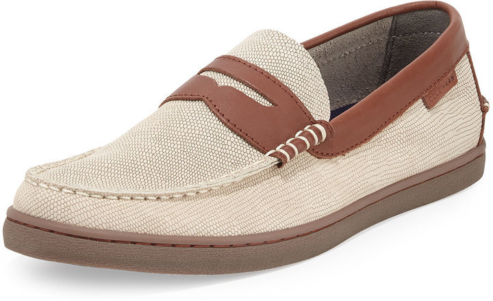 9183582618f ... Cole Haan Nantucket Lizard Embossed Penny Loafer Oyster Graybrown ...