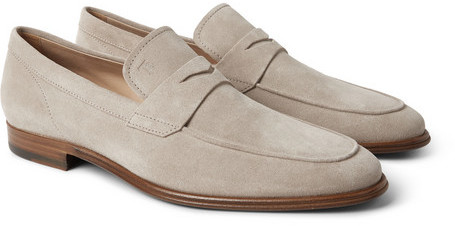Tod's Suede Penny Loafers, $625   MR