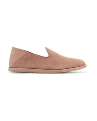 Pedro Garcia Yeira Suede And Leather Collapsible Heel Loafers
