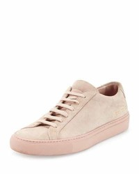 Common Projects Achilles Suede Low Top Sneaker Blush