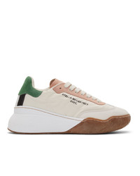 Stella McCartney Off White Loop Lace Up Sneakers