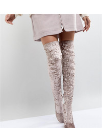 ASOS DESIGN Asos Katcher Heeled Over The Knee Boots