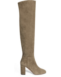 London suede over the knee boots beige medium 1248806