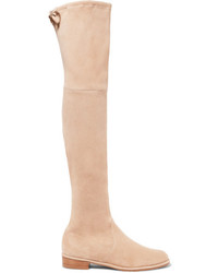 Lowland suede over the knee boots beige medium 1248805