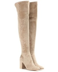 Gianvito Rossi Rolling 85 Suede Over The Knee Boots