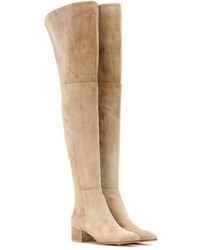 Gianvito Rossi Rolling Mid Suede Over The Knee Boots