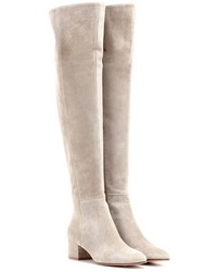 Gianvito Rossi To Mytheresacom Rolling Mid Suede Over The Knee Boots