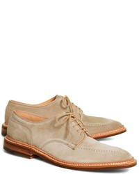 Brooks Brothers Suede Contrast Stitch Oxfords