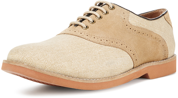 Linen Oxford Shoes Ethan Linen Suede Oxford
