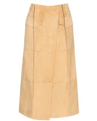 Pleat front suede skirt medium 532365