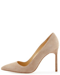 1d804dc3e80 ... Manolo Blahnik Bb Suede Point Toe Pump Beige ...