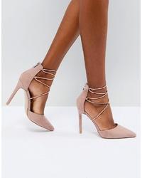 Public Desire Volt Tie Up Heeled Shoes