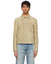 Saint Laurent Beige Suede Short Jacket