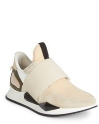 Givenchy Active Suede Patent Leather Sneakers