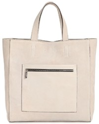 Calvin klein collection suede tote bag with leather pocket medium 966614