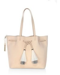 Horse hair tassel suede drawstring tote medium 4397132