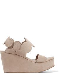 Dyane suede wedge sandals neutral medium 1125907