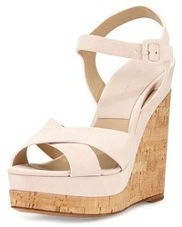 0869e3a117c Michael Kors Michl Kors Cate Suede Wedge Sandal
