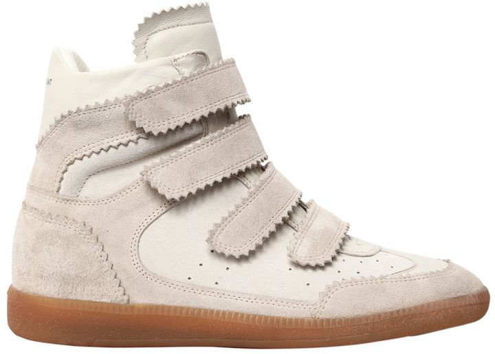 Isabel Marant 40mm Bilsy Suede Wedge Sneakers